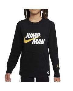Jordan Felpa da Ragazzo Girocollo Jumpman Nera