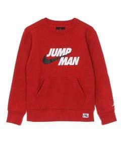 Jordan Felpa da Ragazzo Girocollo Jumpman Rossa