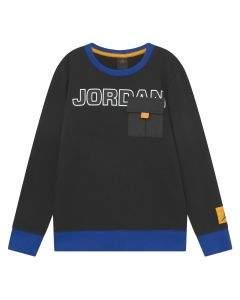 Jordan Felpa da Ragazzo Girocollo Jumpman Next Utility Nera
