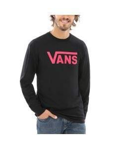 Vans T-shirt da Uomo Maniche Lunghe Classic Nera