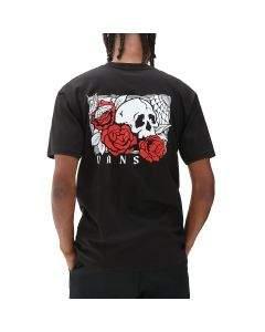 Vans T-Shirt da Uomo Rose Bed Nera