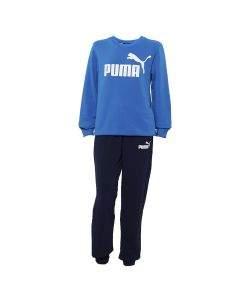 Puma Tuta da Ragazzo Logo Blu